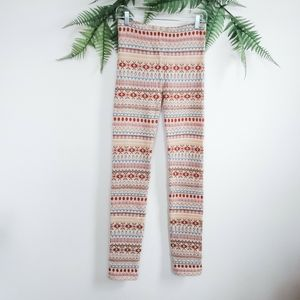 Free People Patterned Wool Blend Knit Leggings